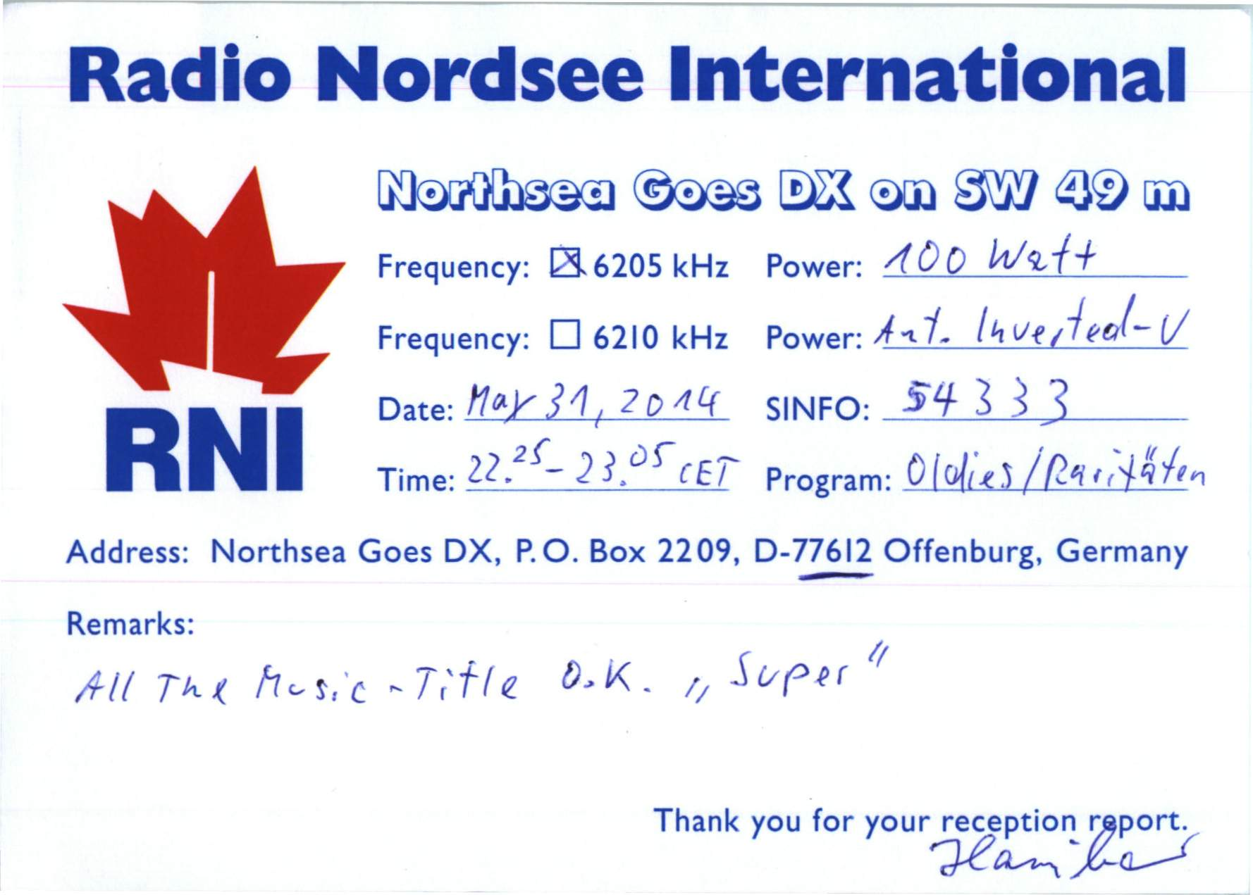 Radio Nordsee Int
