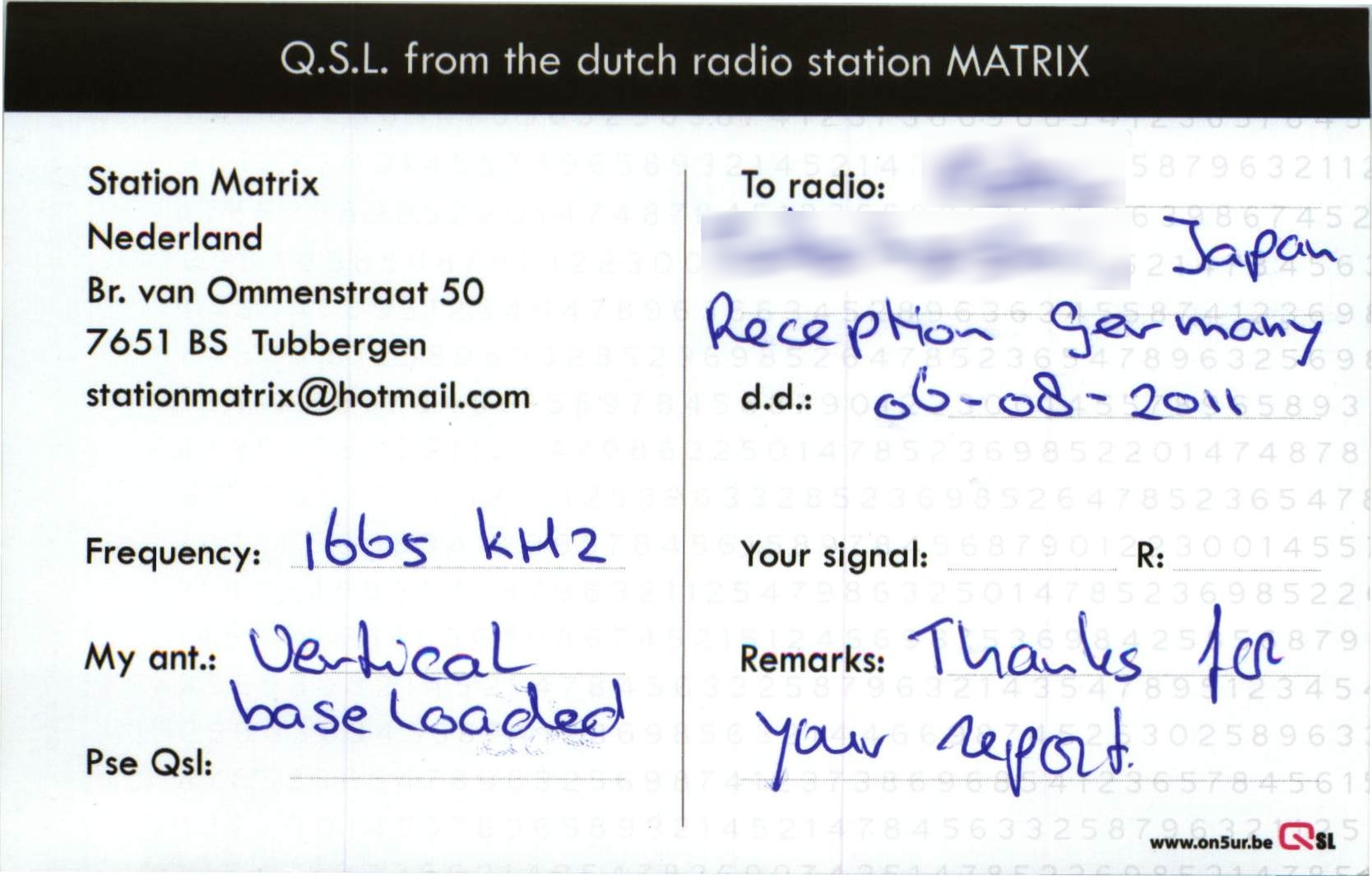 Radio station Matrix a