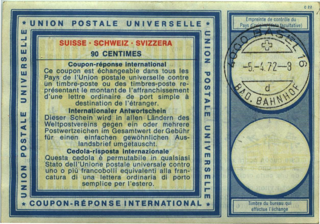Switzerland 1972 (90 Centimes)