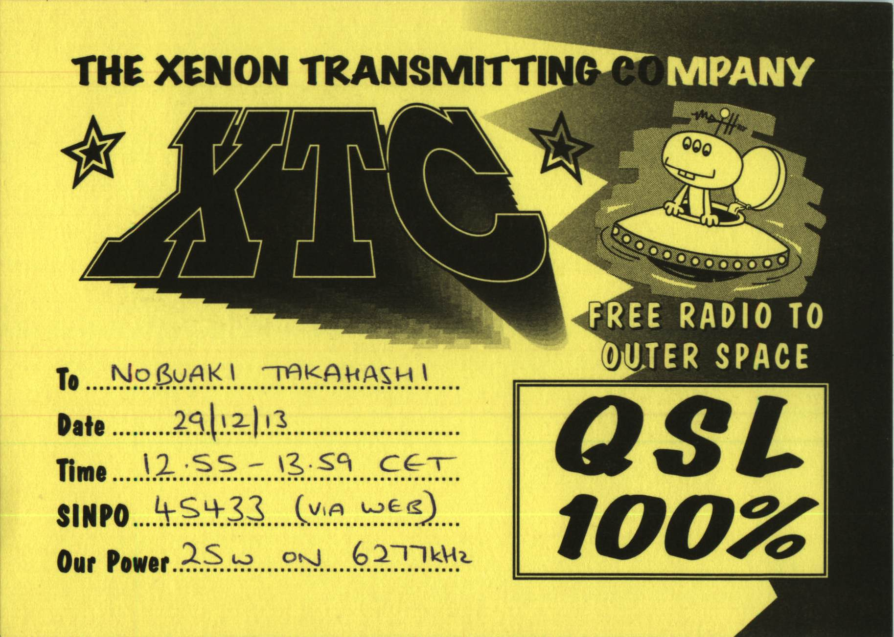 XTC The Xenon Transmitting Company